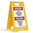 Floorboss Custom Danger Floor Stand Sign