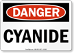 Danger Cyanide Sign