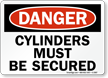 Danger Cylinders Secured Sign