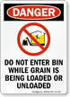 Dont Enter Bin While Loading/Unloading Grain Danger Sign