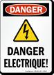 French OSHA Danger Sign