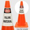 Danger Falling Material Cone Collar