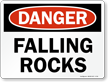 Danger Falling Rock Sign