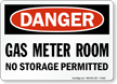 Danger Gas Meter Room Sign