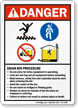 Danger, Grain Bin Procedure Sign