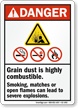 Grain Silo Safety Sign