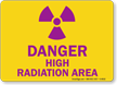 Danger High Radiation Area Sign