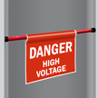 Danger High Voltage Door Barricade Sign