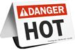 Danger Hot Table Top Sign