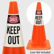 Danger Keep Out Cone Collar