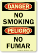 Danger No Smoking No Fumar (Glow) Sign