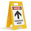 Danger Overhead Work Standing Floor Sign