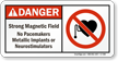 Danger - Strong Magnetic Field Sign