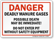 Deadly Manure Gases Possible Death Sign