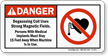 Danger - Degaussing Coil, Strong Magnetic Fields Sign