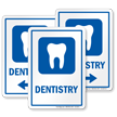 Dentistry Hospital Sign with Tooth Symbol