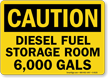 Diesel Fuel Storage Room Sign