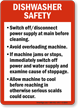 Dishwasher Safety Guidelines Sign