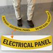 Do Not Block - Electric Panel, 2-Part Floor Sign