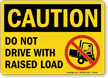 Caution Driving Rule Sign