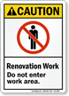Under Construction ANSI Caution Sign