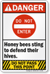 Do Not Enter Honey bees Ansi Danger Sign