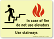 Glow-In-The-Dark In Case Of Fire Sign