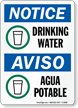 Notice Drinking Water / Aviso Agua Potable Sign