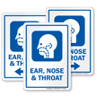 Ear Nose and Throat Otorhinolaryngology Hospital Sign