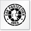 Ear Protection Area Floor Stencil