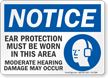 Ear Protection Must Be Worn OSHA Notice Sign