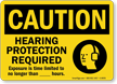 Hearing Protection Required, Exposure Is Time Limited Sign