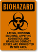 Eating, Drinking, Smoking Are Prohibited Biohazard Sign