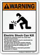 Electric Shock Can Kill ANSI Warning Sign