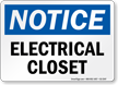 Electrical Closet OSHA Notice Sign