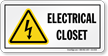 Electrical Closet Safety Sign