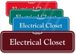 Electrical Closet ShowCase Sign