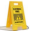 Electrical Panel - Do Not Block, Floor Sign