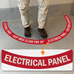 Electrical Panel - Keep Area Clear for 36 Inches, 2-Part Floor Sign
