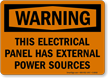 Electrical Panel Power Sources Sign