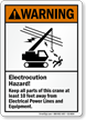 Keep All Parts of Crane 10 Feet Away Sign
