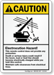 Electrocution Hazard, Maintain Safe Clearances Sign