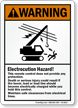 Electrocution Hazard, ANSI Electrical Lines Warning Sign