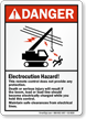 ANSI Danger Crane Safety Sign