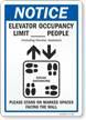 Elevator Occupancy Limit __ People Stand On Marked Spaces Sign