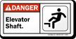 Elevator Danger (ANSI) Sign