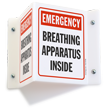 Emergency Breathing Apparatus Projecting Sign