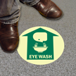 Emergency Eye Wash with Graphic Sign