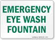 Emergency Eye Wash Fountain Sign