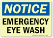Notice: Emergency Eye Wash Sign